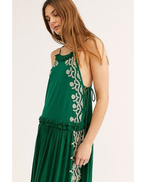 Free People Bali Wildfire Dress in Lucky Green