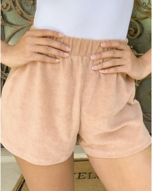 Asos Design Mix & Match Lounge Towelling Short in Brown