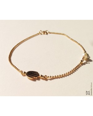 M Collection Kaff Bracelet in 18k Yellow Gold
