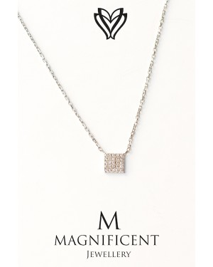 Mmagnificent Square Gold Necklace