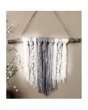 Colorful Yarns Braids Tassels in Grey