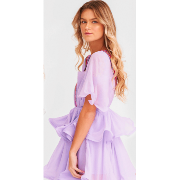 Pitusa Talullah Short Dress in Orchid Ice