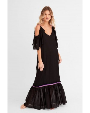 Pitusa Camille Maxi Dress in Black