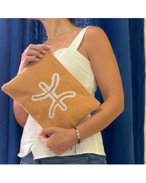 Sand & Lily Pisces Clutch in Sand