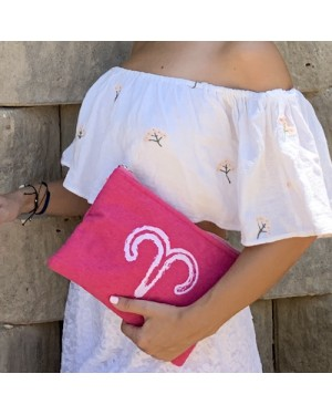 Sand & Lily Aries Clutch in Pink