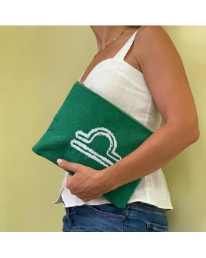Sand & Lily Libra Clutch in Green