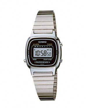 Casio LA670WA-1DF Digital Watch in Silver/Black