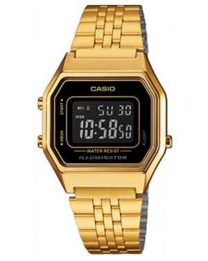 Casio LA680 Digital Watch in Gold/Black