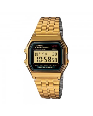 Casio A159WGEA Digital Watch in Gold/Black