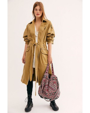 Free People We The Free Undercover Trench Coat in Camel