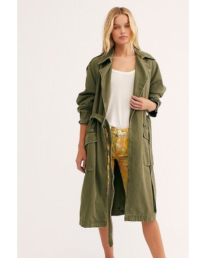 Free People We The Free Undercover Trench Coat in Rogue