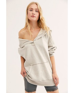 Free People We The Free My Favorite Hoodie in Heather Grey