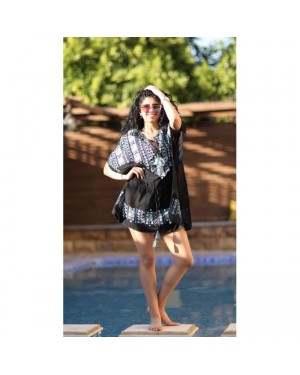 Drawstring Cover Up Dress in Black